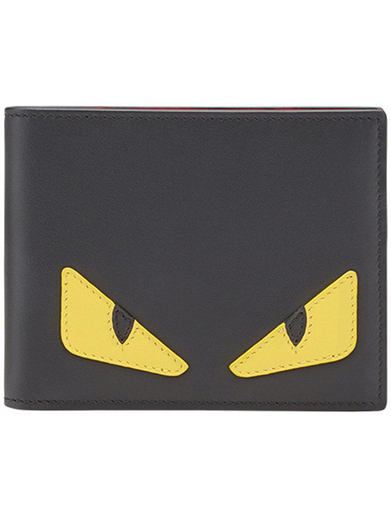 25191321f5 Fendi Monster Eyes Wallet in Black for Men - Lyst