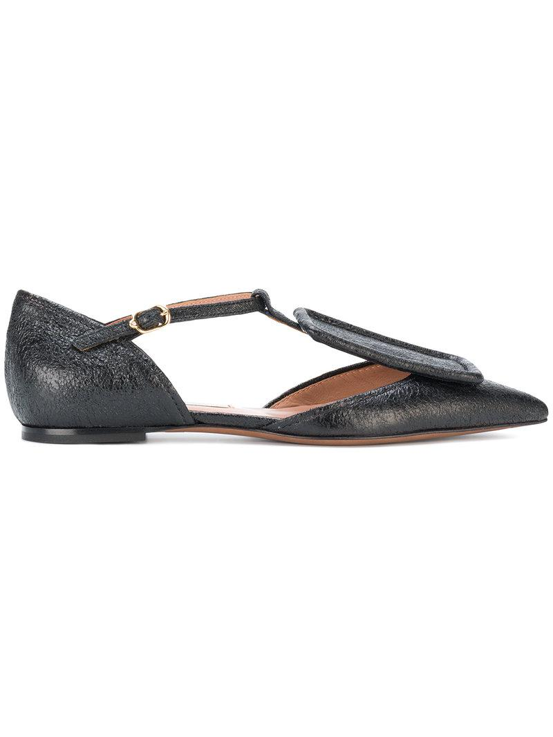 Affordable Online Lowest Price L Autre Chose Laminated leather flat shoes women's Shoes (Pumps / Ballerinas) in Cheap Sale Websites oJS6MXuw2