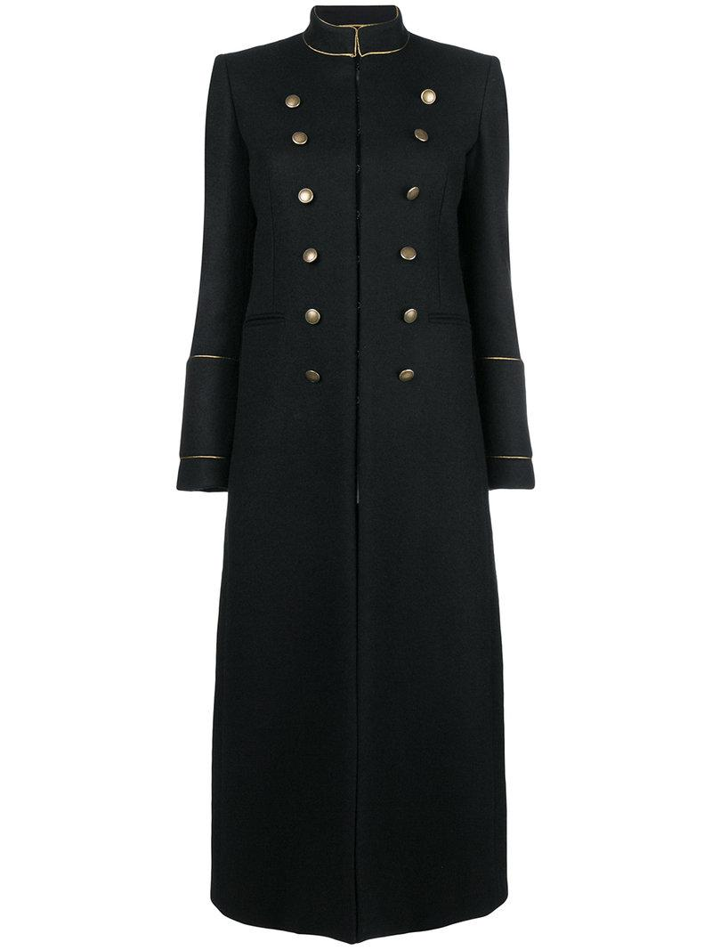 908ee90c4a2 Saint Laurent Military Coat in Black - Save 50% - Lyst