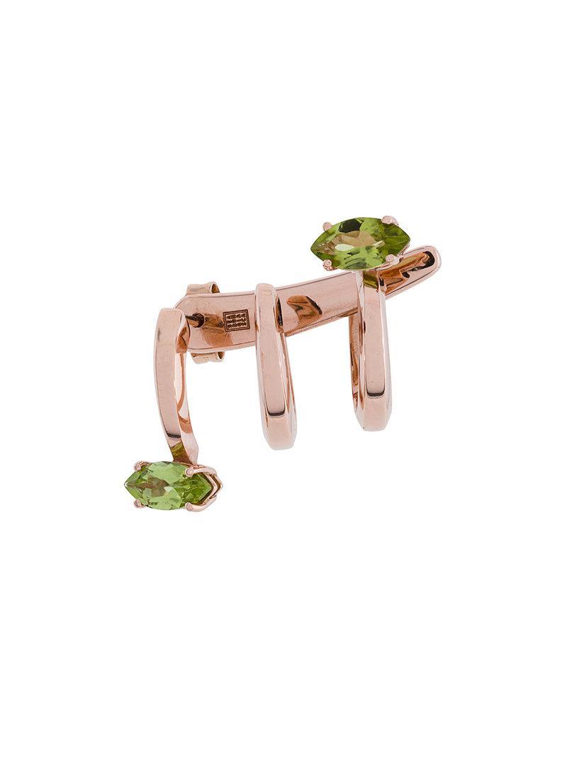 Bea Bongiasca Multi Spiral earring - Metallic tOhlH