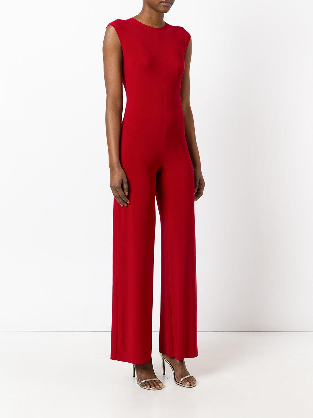 a6992e3a9128 Norma Kamali - Red Fitted Jumpsuit - Lyst. View fullscreen