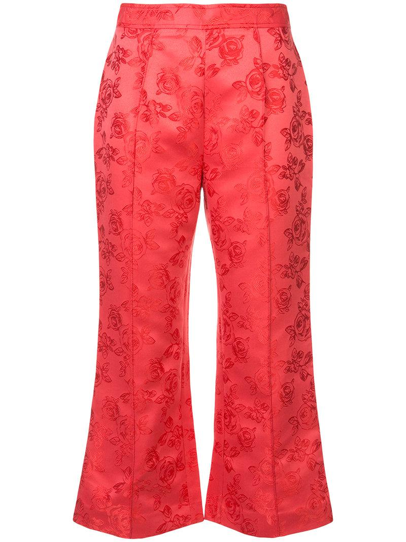 floral cropped trousers - Red C/Meo Collective FCYxptpU