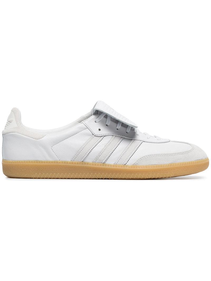 white Samba Recon LT leather sneakers adidas tGkZNq
