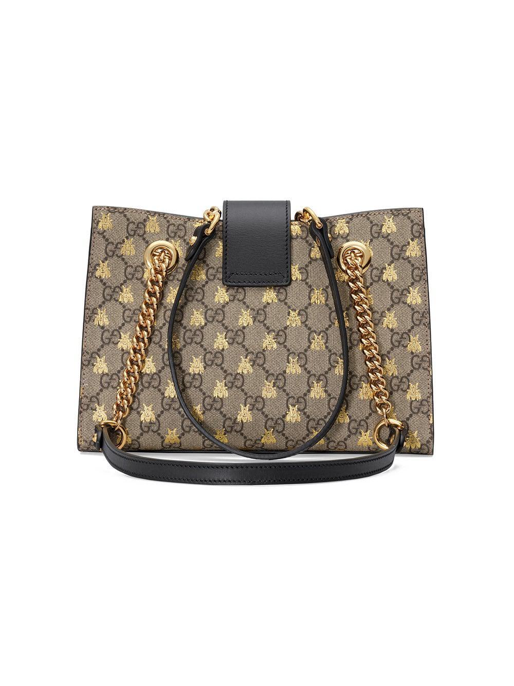 be5ba6bba0e0 Gucci - Multicolor Padlock Small GG Bees Shoulder Bag - Lyst. View  fullscreen