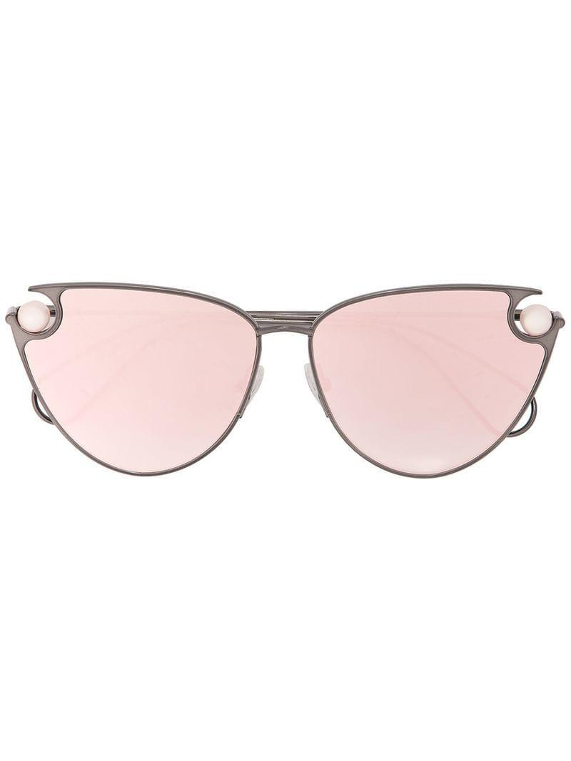 f48bea089b Christopher Kane - Black Pearl Embellished Cat Eye Sunglasses - Lyst. View  fullscreen