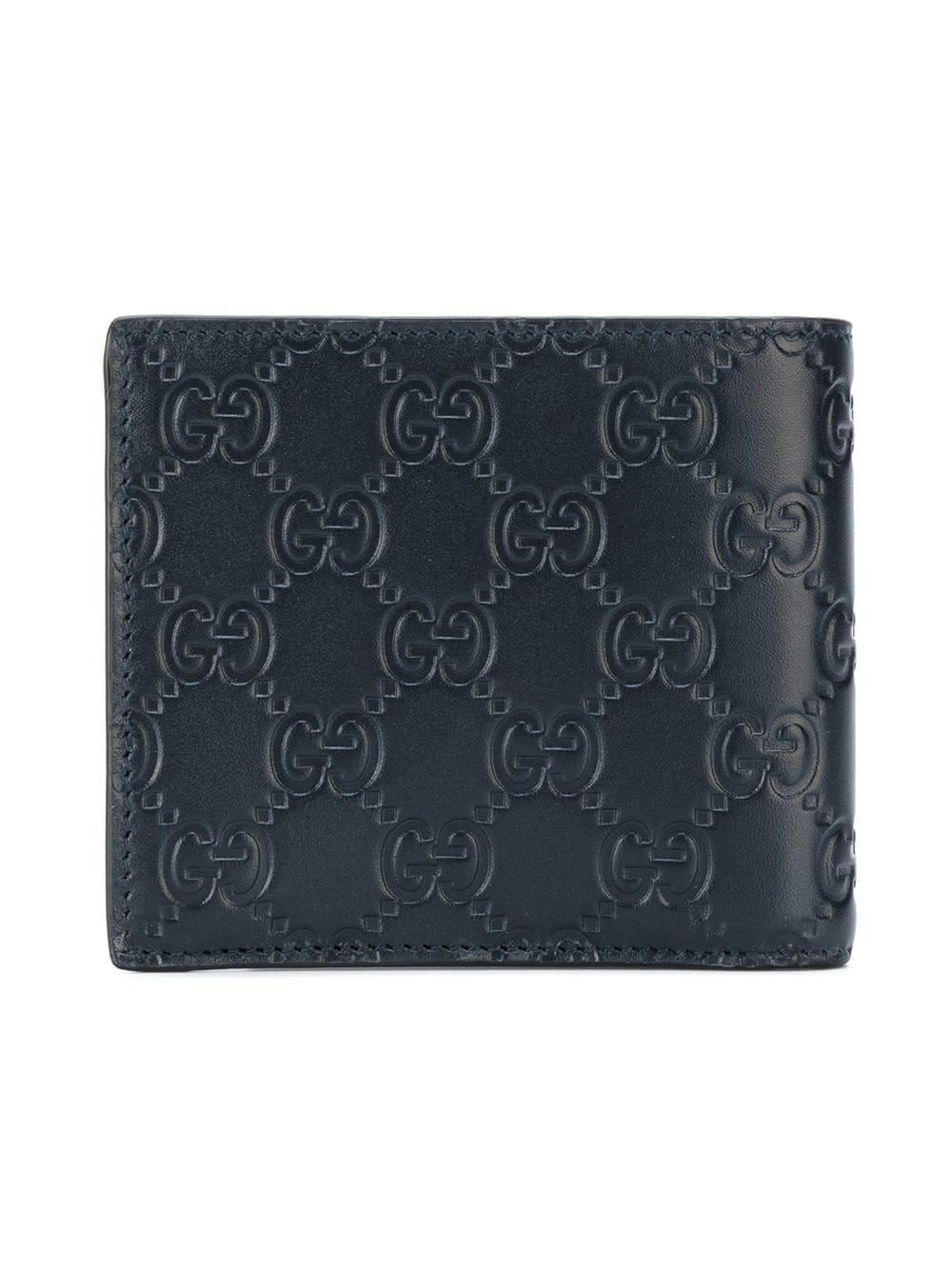 0b77f0eac7bb Lyst - Gucci GG Signature Wallet in Blue for Men - Save 10%