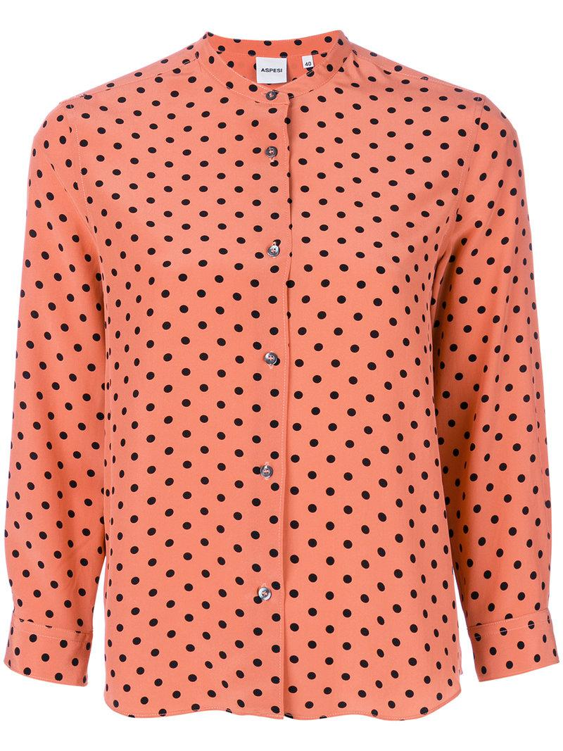 Outlet In China Outlet Manchester Dondup polka dot draped cut out blouse FdxmEF