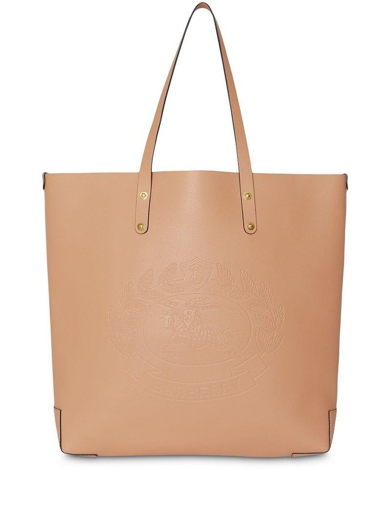 Lyst - Burberry Embossed Crest Tote in Brown 26607715f2a48