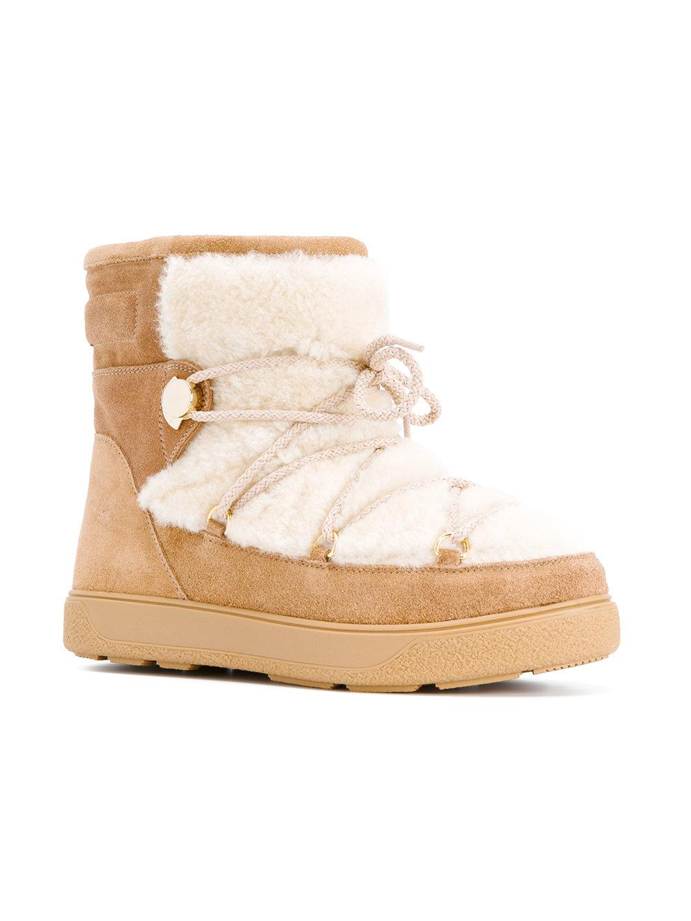 c4c79230e291 Lyst - Moncler New Fanny Snow Boots in Brown