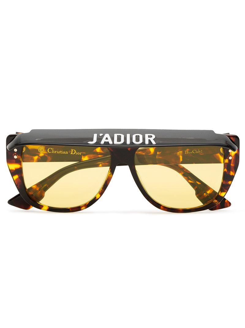 d93f54a4c5f8 Dior Club 2 Tortoiseshell Visor Acetate Sunglasses in Brown - Lyst