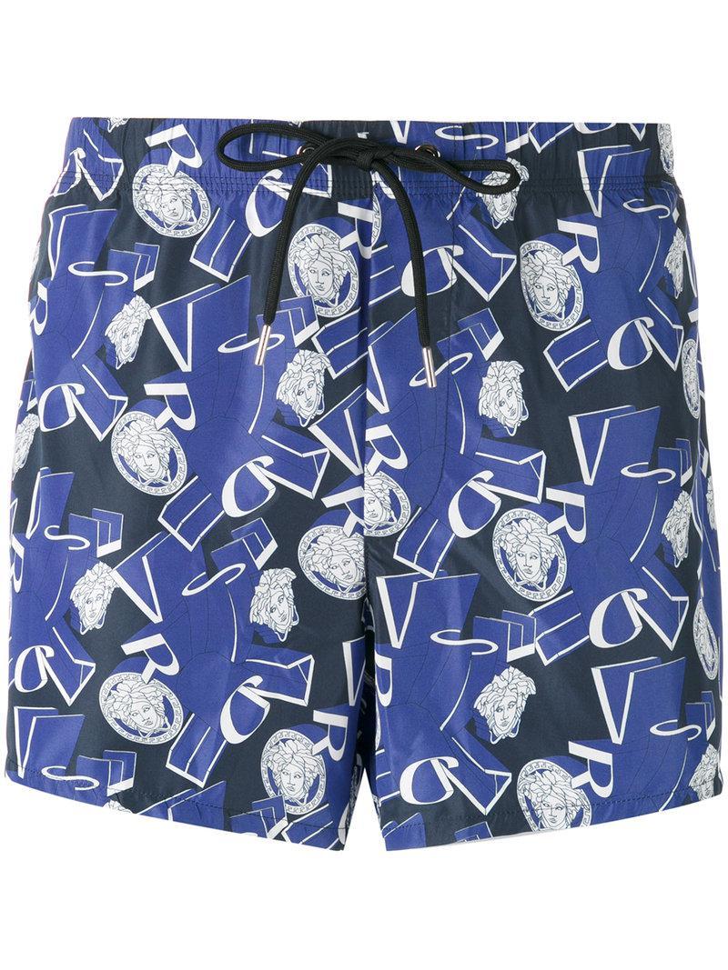 f51422da87d Lyst - Short de bain Medusa Versace pour homme en coloris Bleu