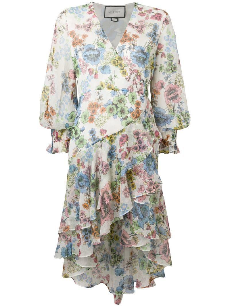 1f59d4e16f9622 Alexis - Multicolor Floral Print Wrap Dress - Lyst. View fullscreen