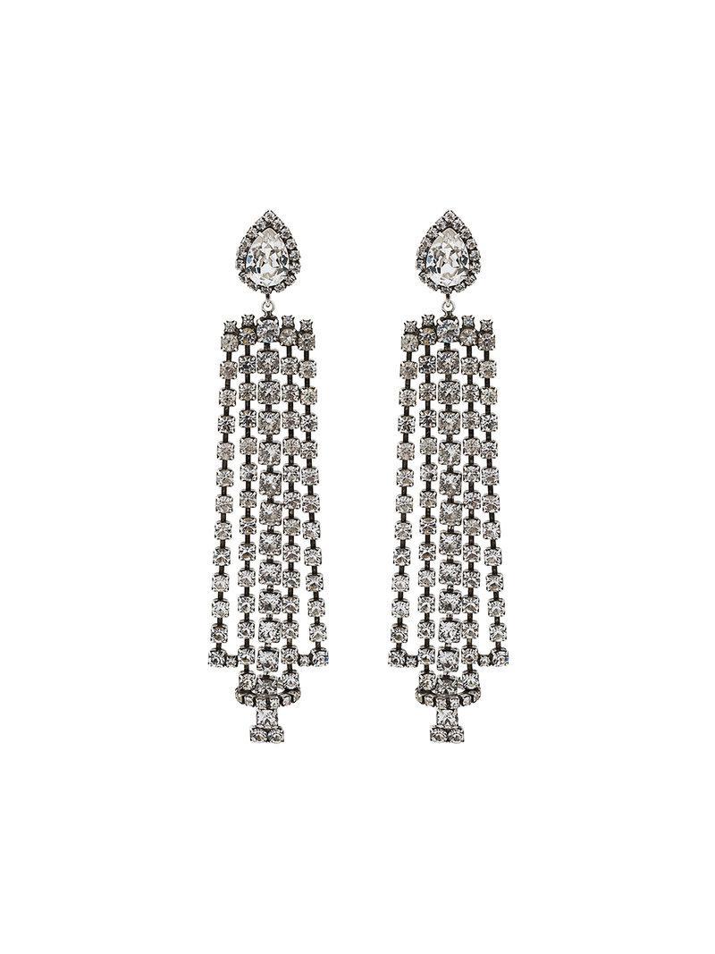 Dannijo sade chandelier earrings in metallic lyst dannijo womens metallic sade chandelier earrings arubaitofo Images