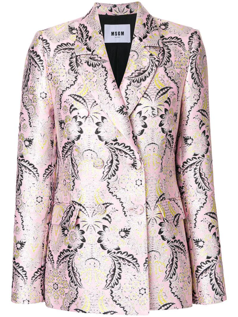 Fashion Style Store Sale jacquard fitted blazer - Multicolour Msgm Great Deals Sale Online Supply ow1fcSFb