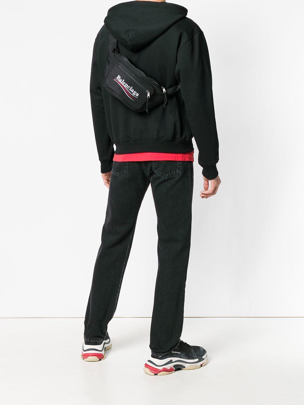 fcd80e9441f963 Balenciaga Explorer Belt Bag in Black for Men - Save 37% - Lyst