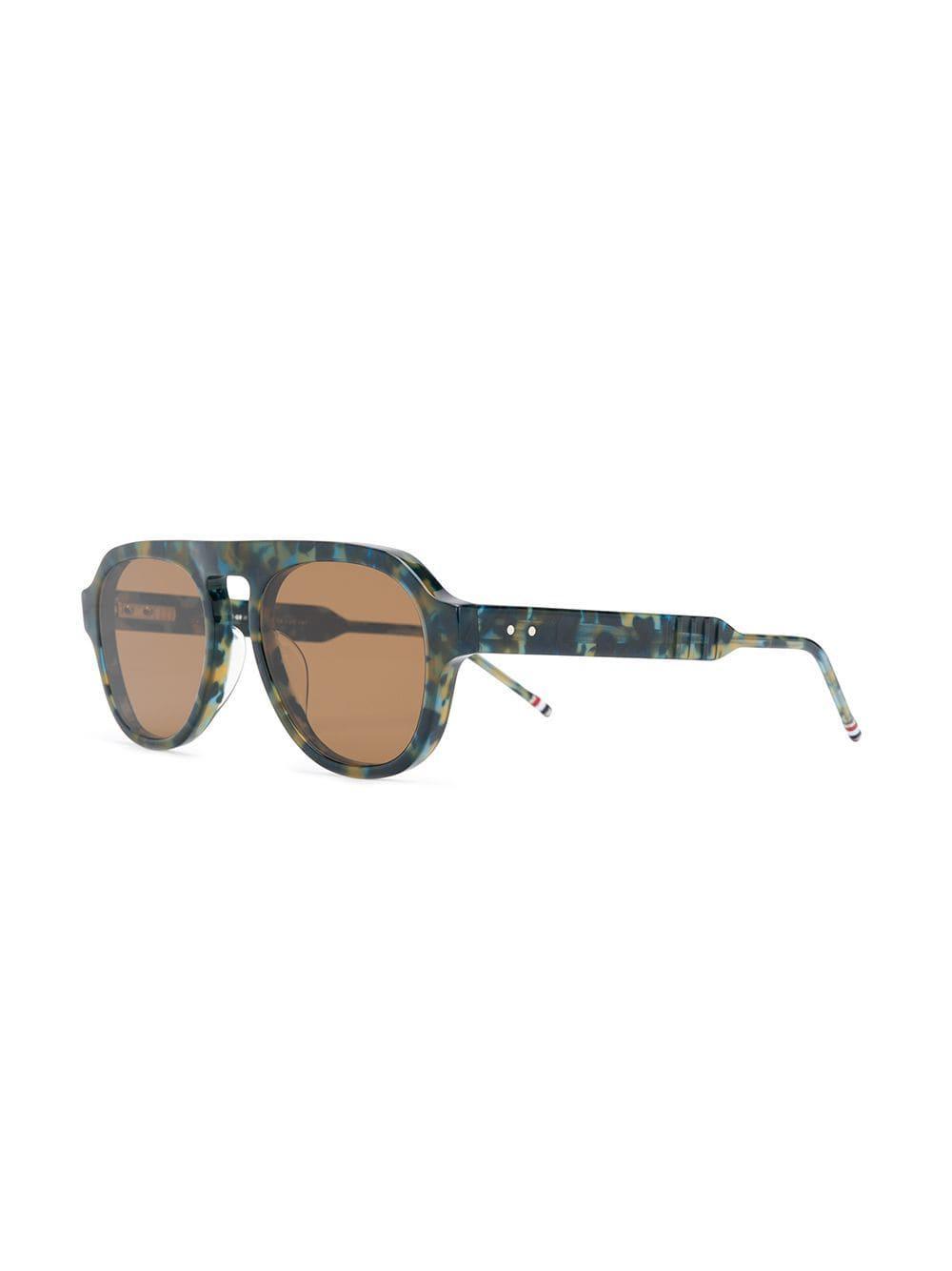 afa0e3d325d Thom Browne - Blue Aviator Sunglasses - Lyst. View fullscreen