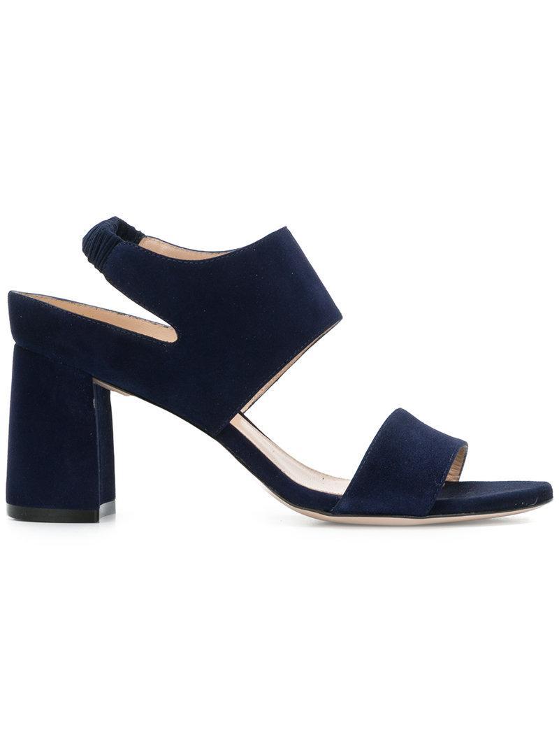 9ea59daf2f6 Lyst - Stuart Weitzman Block Heel Sandals in Blue