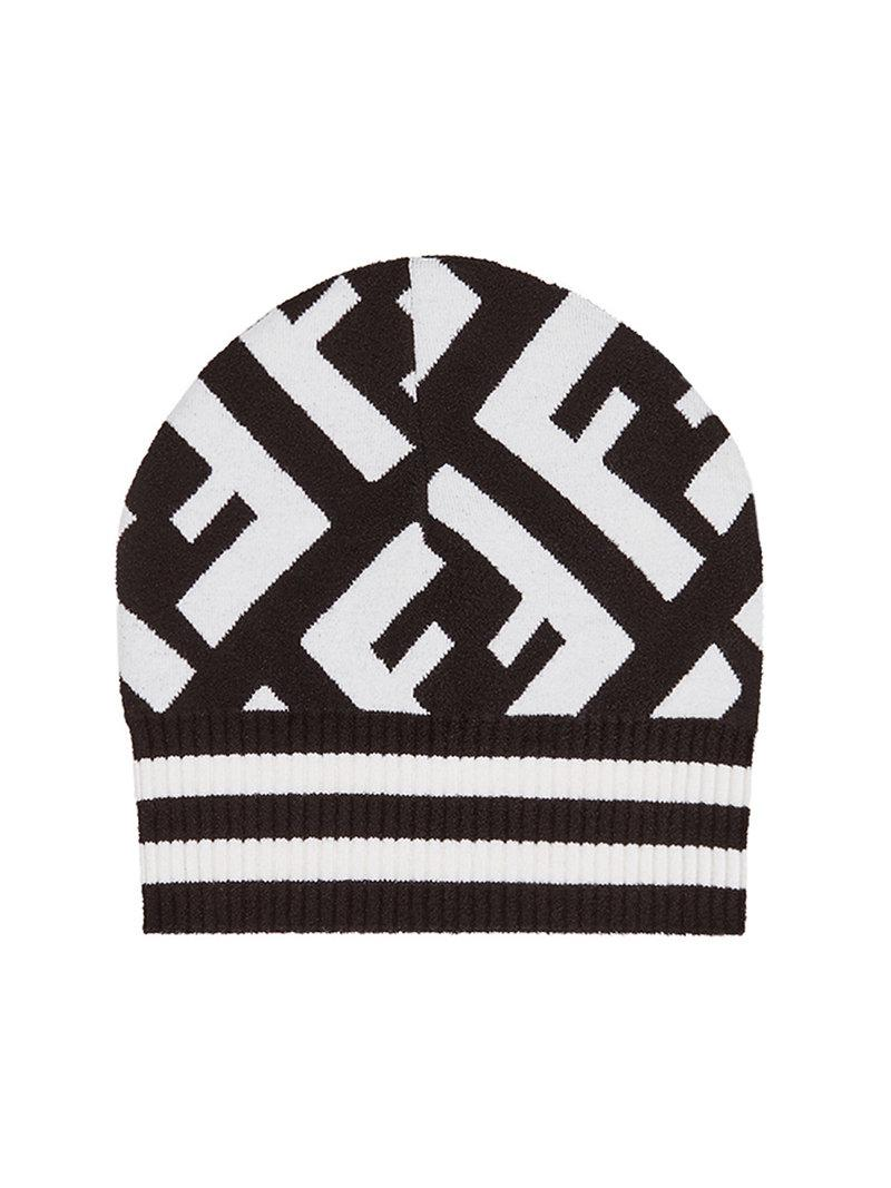 3807f5c5163 Lyst - Fendi Ff Logo Beanie in Black