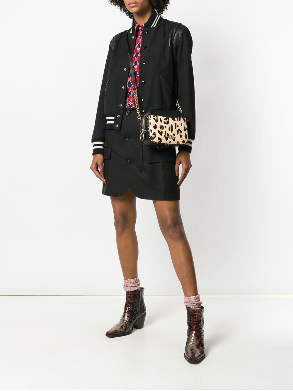 a859f5e8bd Sac porté épaule à imprimé léopard COACH en coloris Noir - Lyst