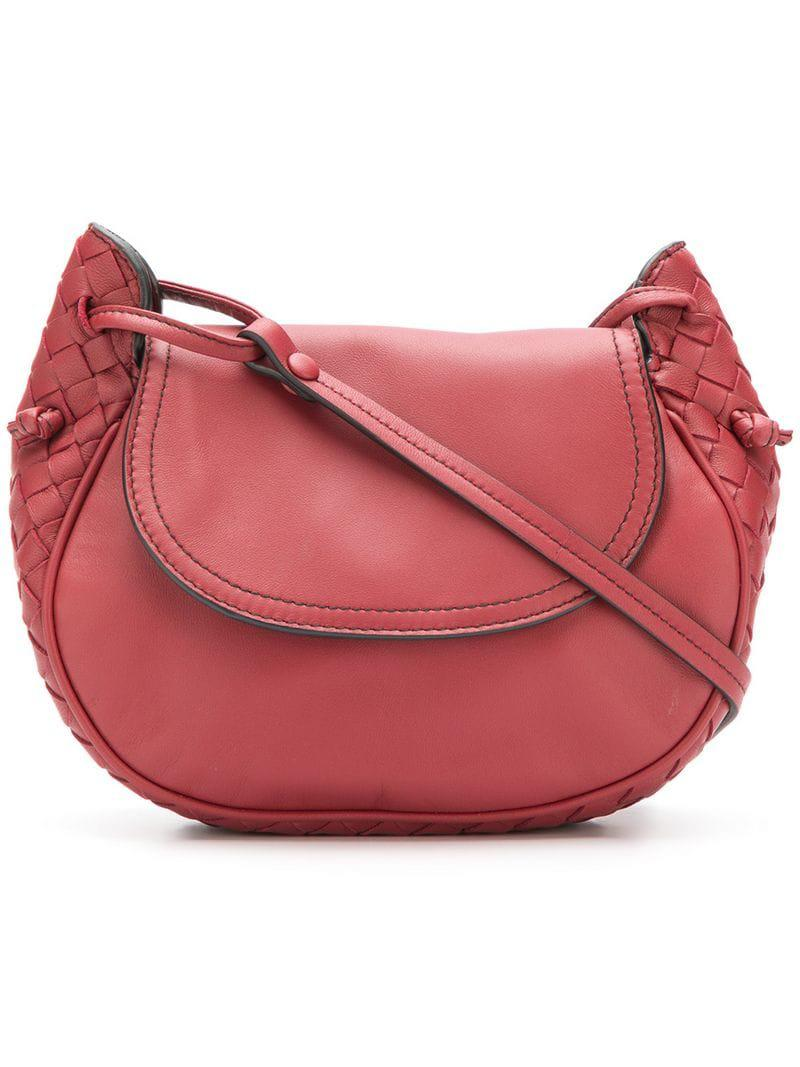 93d22b460a83 Lyst - Bottega Veneta Piccola Cross Body Bag in Red
