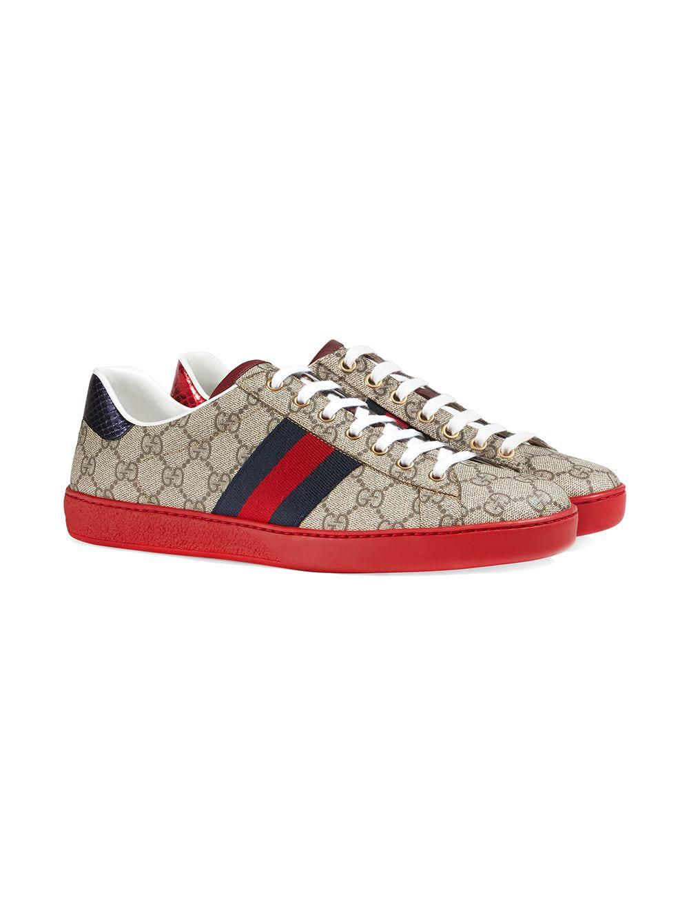 be8e7bf69bd Lyst - Gucci Ace GG Supreme Sneaker for Men - Save 33%