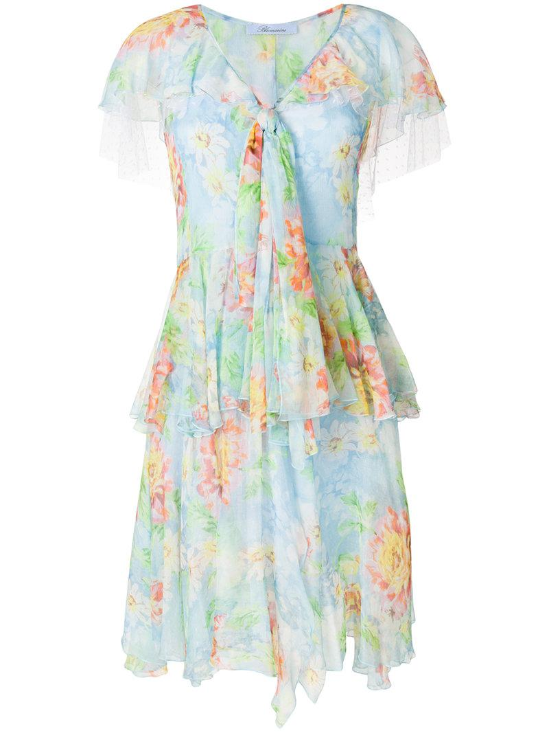 Ivory dress with floral pattern Blumarine dxHmfmEur