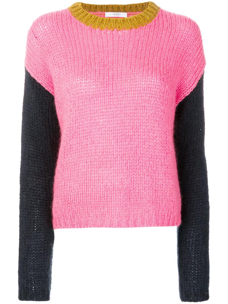 Roseanna Colour Contrast Sweater in Pink | Lyst