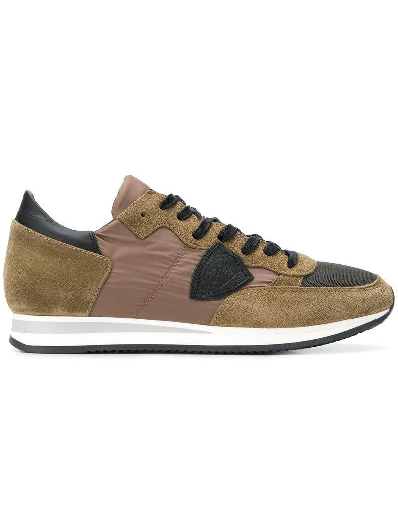 Philippe Model contrast lace-up sneakers outlet wide range of collections cheap price 0mikSX