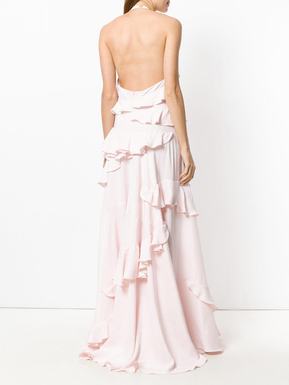 deb7adad38967 Maison Rabih Kayrouz - Pink Ruffle Trimmed Gown - Lyst. View fullscreen