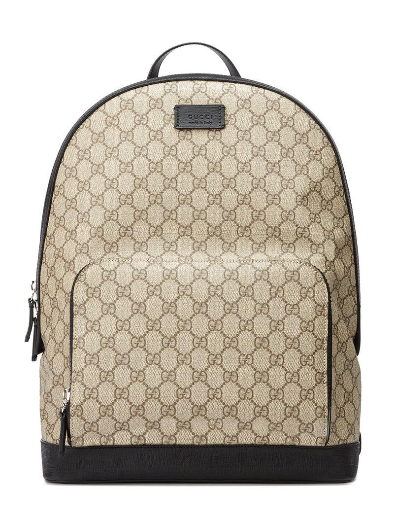 Gucci GG Supreme Backpack for Men - Lyst 7a0297ef5d