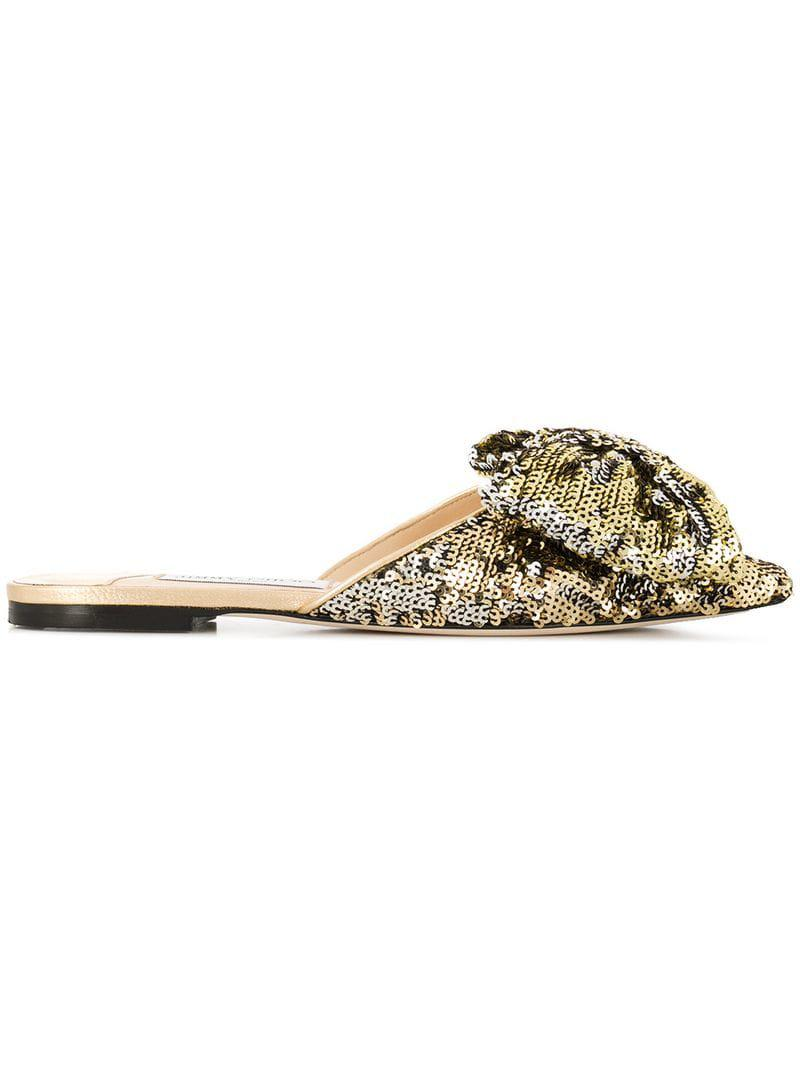9027ab1a109c Lyst - Jimmy Choo Georgina Mules in Metallic