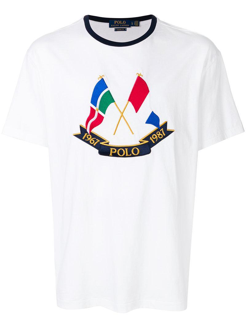 Lyst - Polo Ralph Lauren Nautical Motif T-shirt in White for Men 7b1f787a1eb