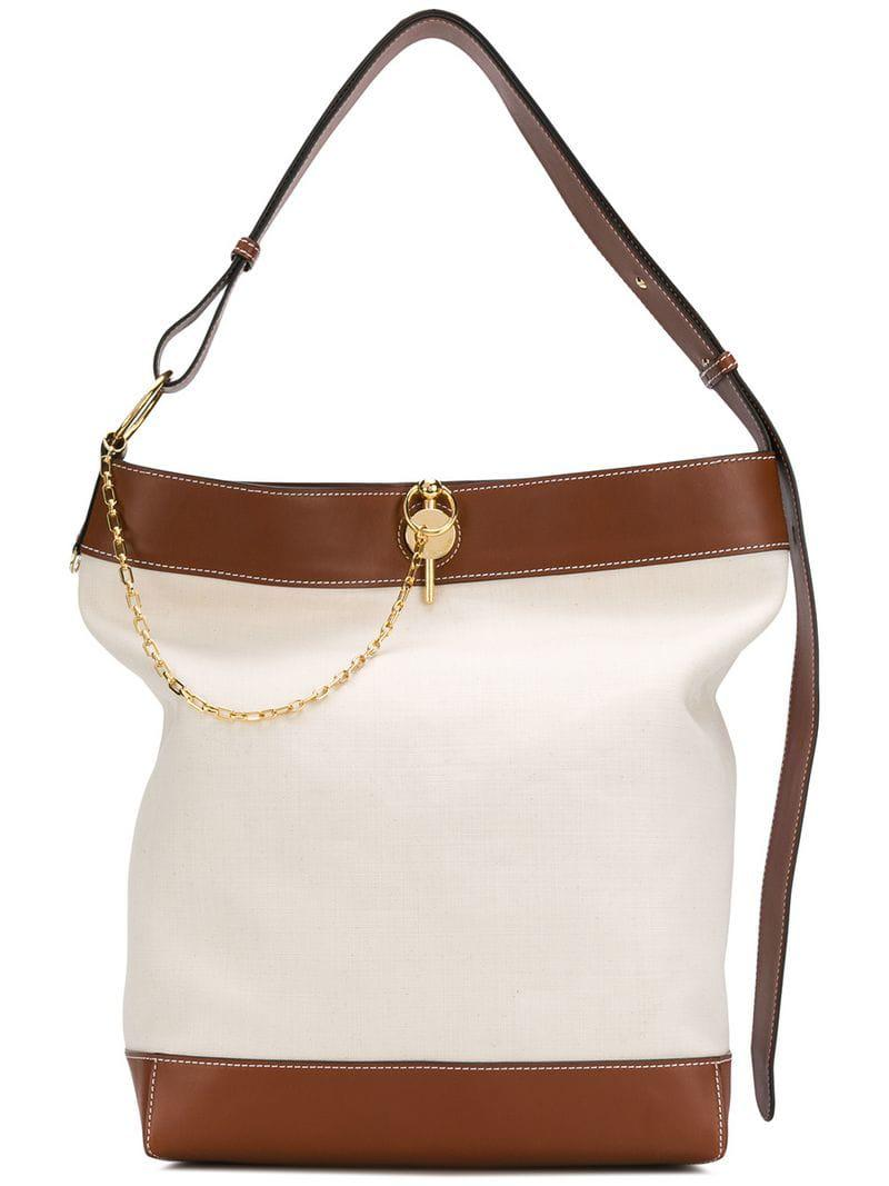 Lyst - JW Anderson Calico Key Tote in White 510345d8ba