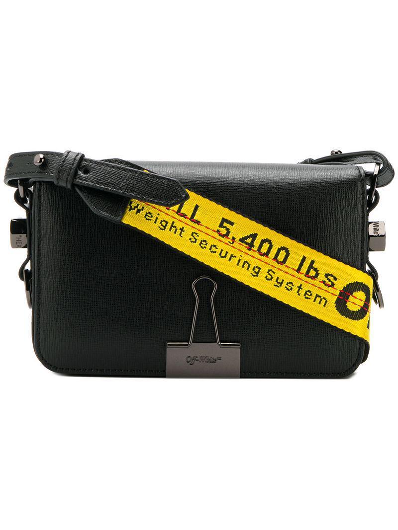 27c0b9fc616e Lyst - Off-White c o Virgil Abloh Binder Clip Crossbody Bag in Black