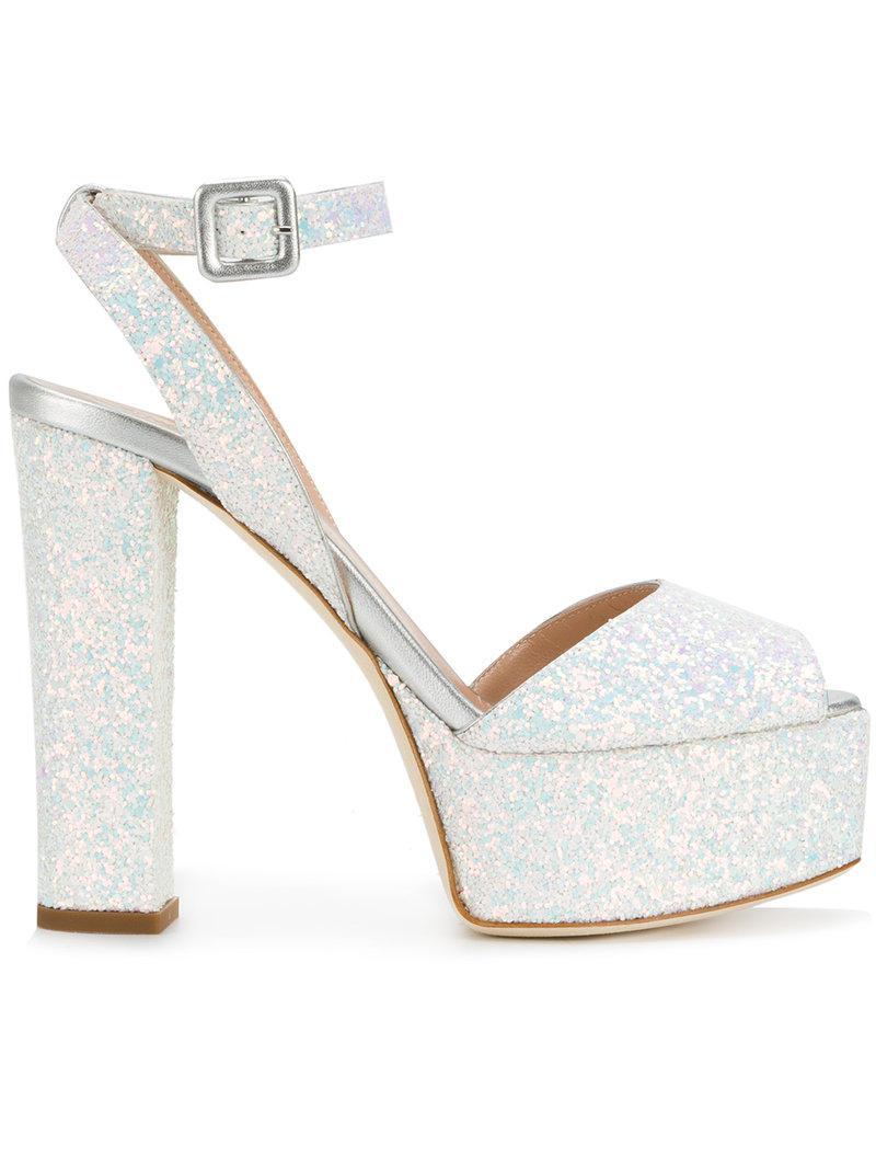 78ada86278d Lyst - Giuseppe Zanotti Betty Glitter Platform Sandals