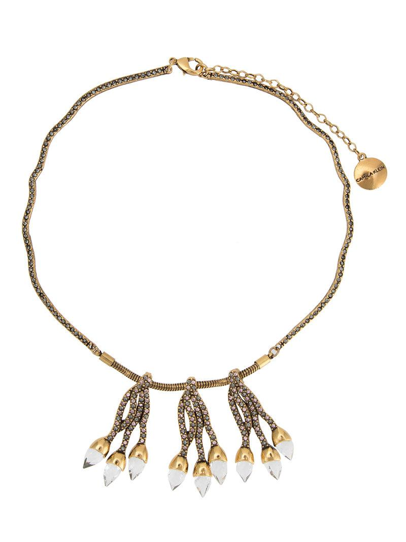 embellished pendants necklace - Metallic Camila Klein