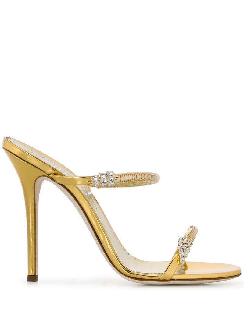 fbeec74b6d80 Lyst - Giuseppe Zanotti Darsey Sparkling Sandals in Metallic