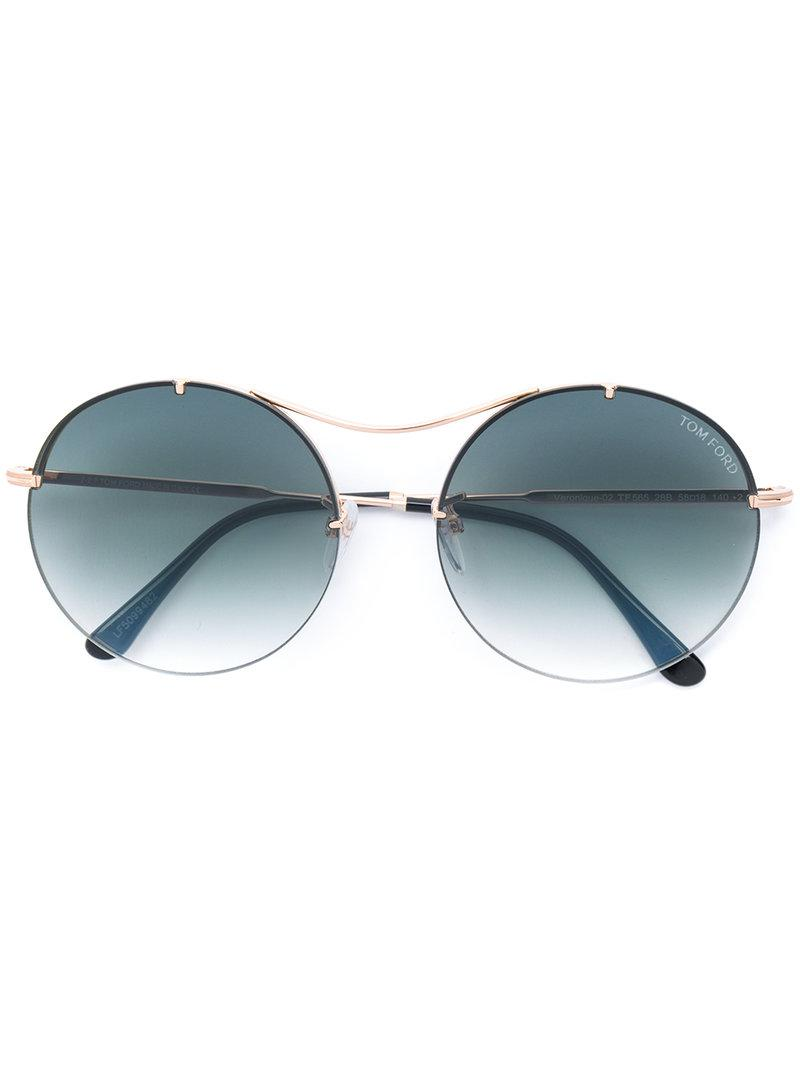 196d452364 Lyst - Tom Ford Round Sunglasses in Metallic