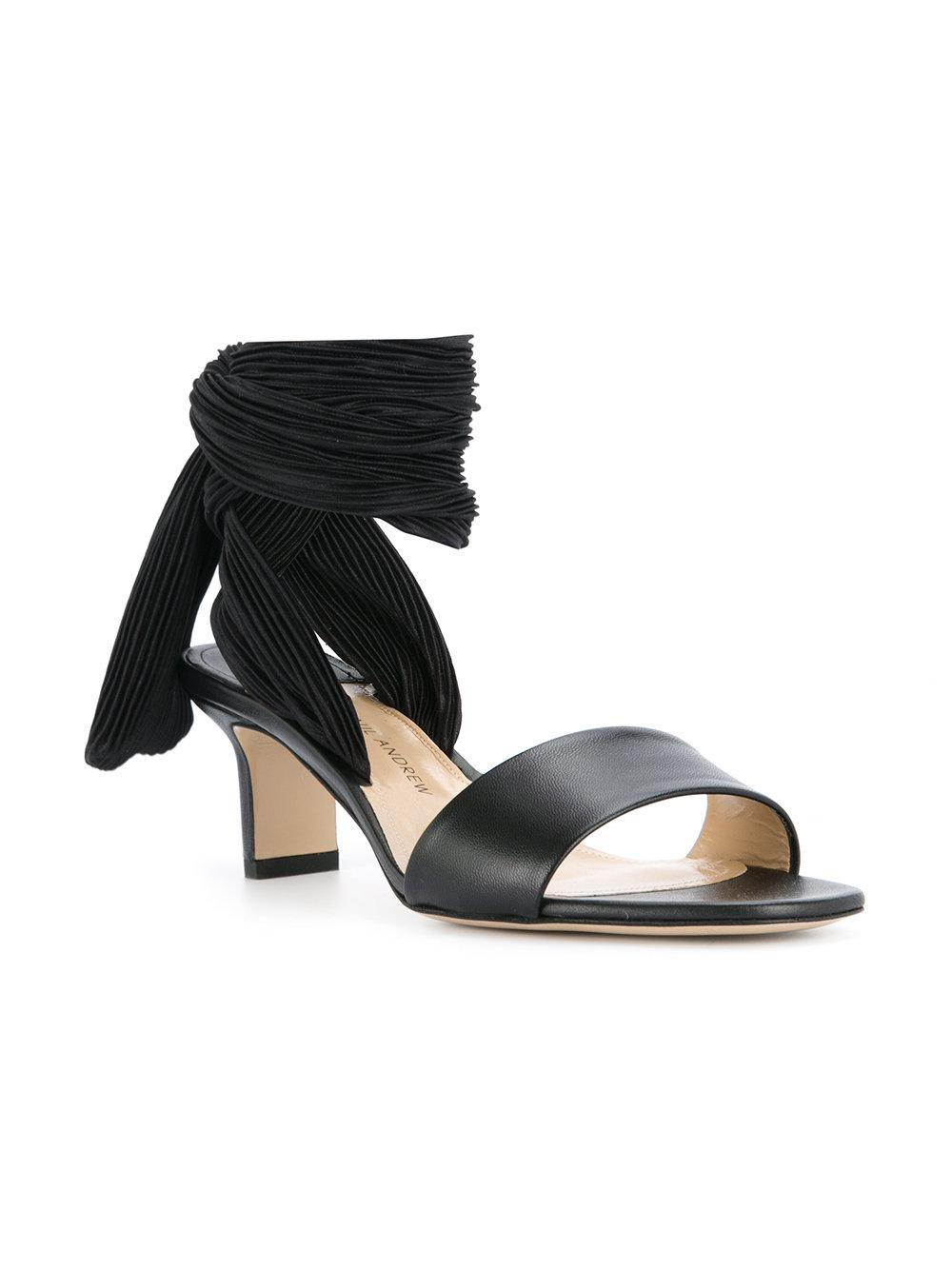 PAUL ANDREW Pleated lace up strap sandals OnuDEgv