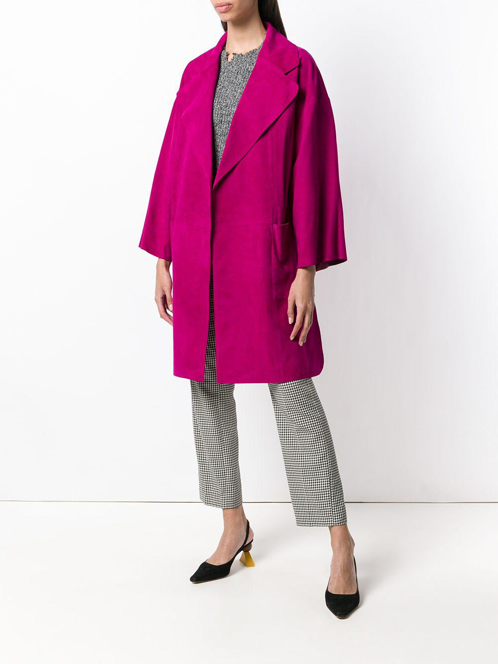In Theory Cropped Oversized Coat Pink Lyst Sleeve wT0RT1Iq