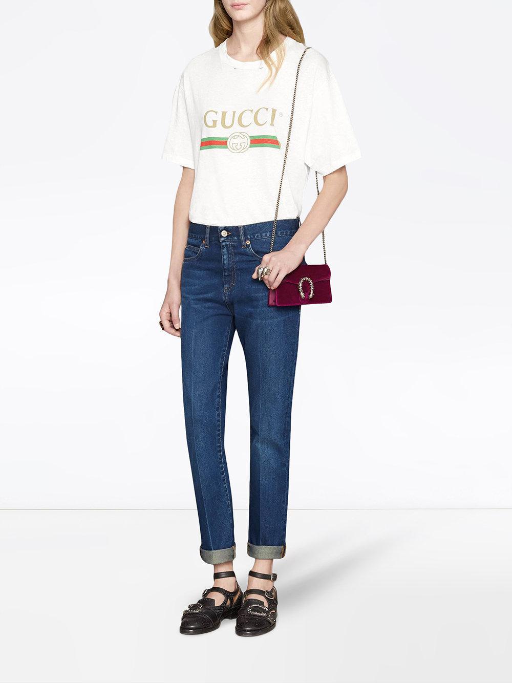 be277161315 Gucci Dionysus Velvet Super Mini Bag in Red - Lyst