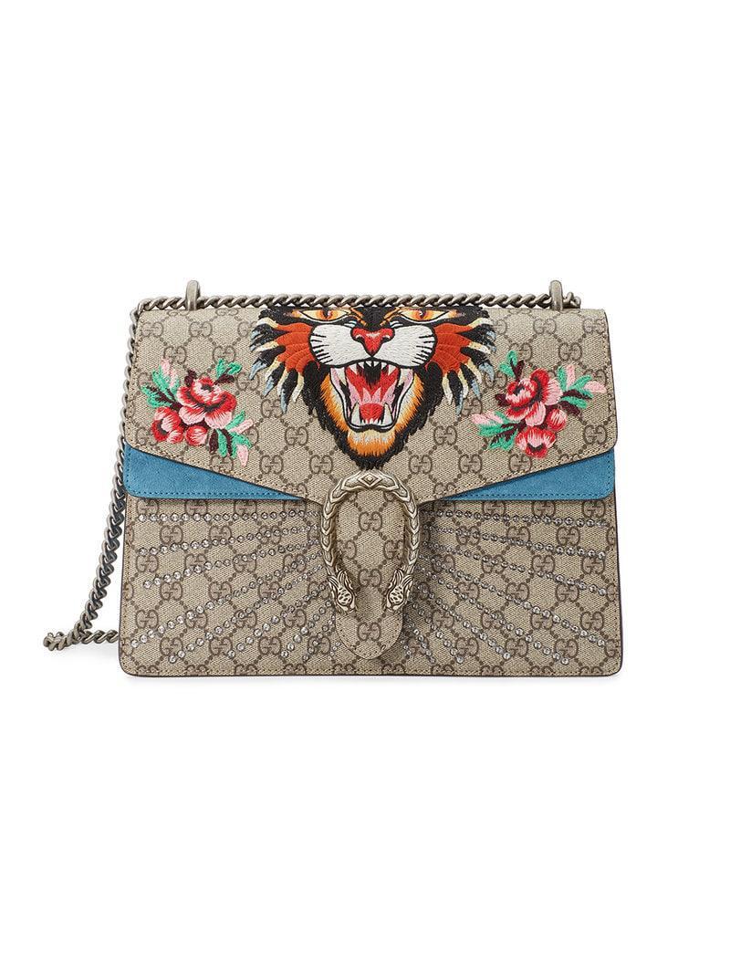c0f55dfb887c Gucci Tiger Dionysus Embroidered Shoulder Bag - Save 5% - Lyst