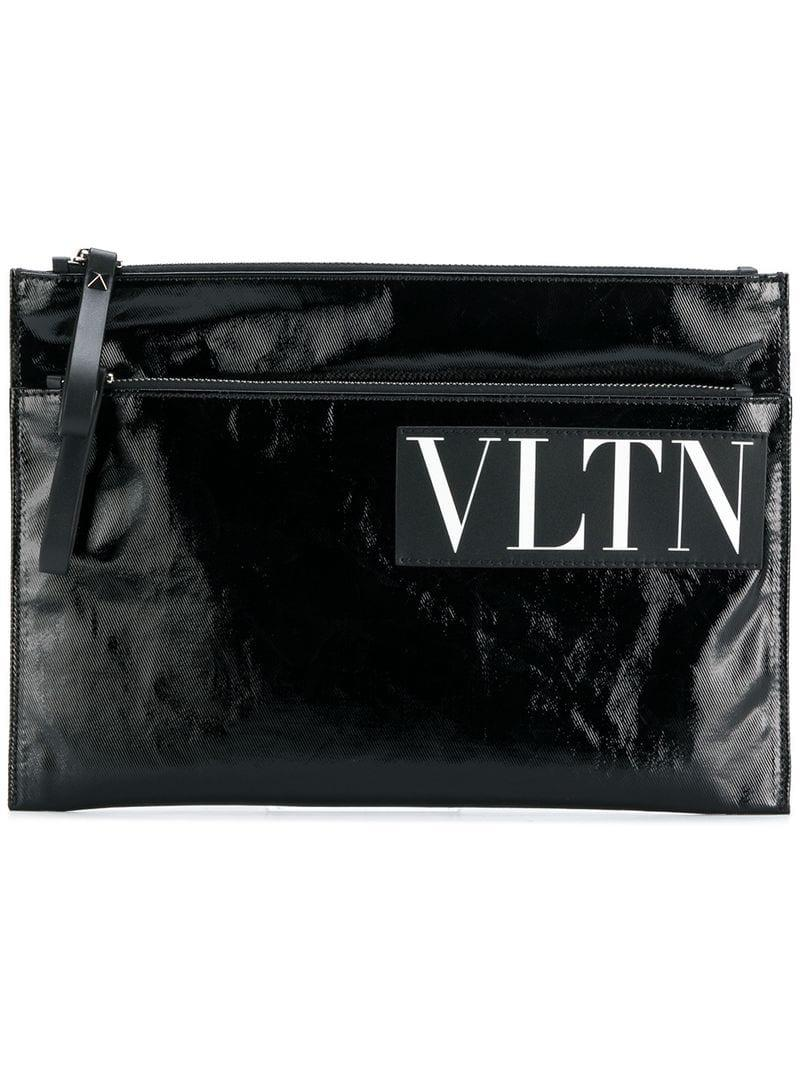 2ea4d7a7cc0 Valentino Garavani Vltn Clutch Bag in Black for Men - Save 13% - Lyst