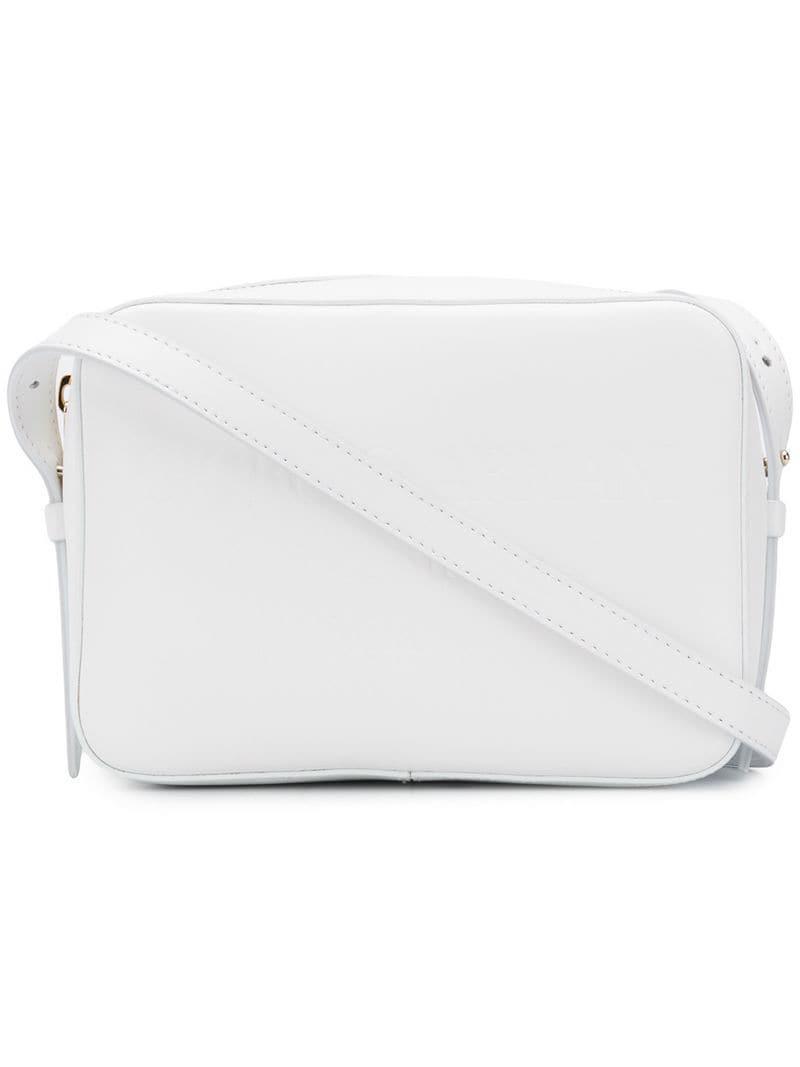 dbcf929609f Giorgio Armani - White Sac porté épaule à logo embossé - Lyst. Afficher en  plein écran