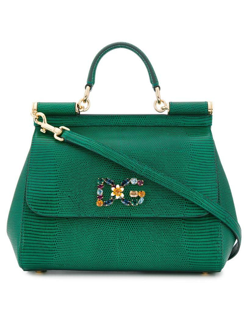 67cc01cd82 Lyst - Dolce   Gabbana Sicily Tote in Green