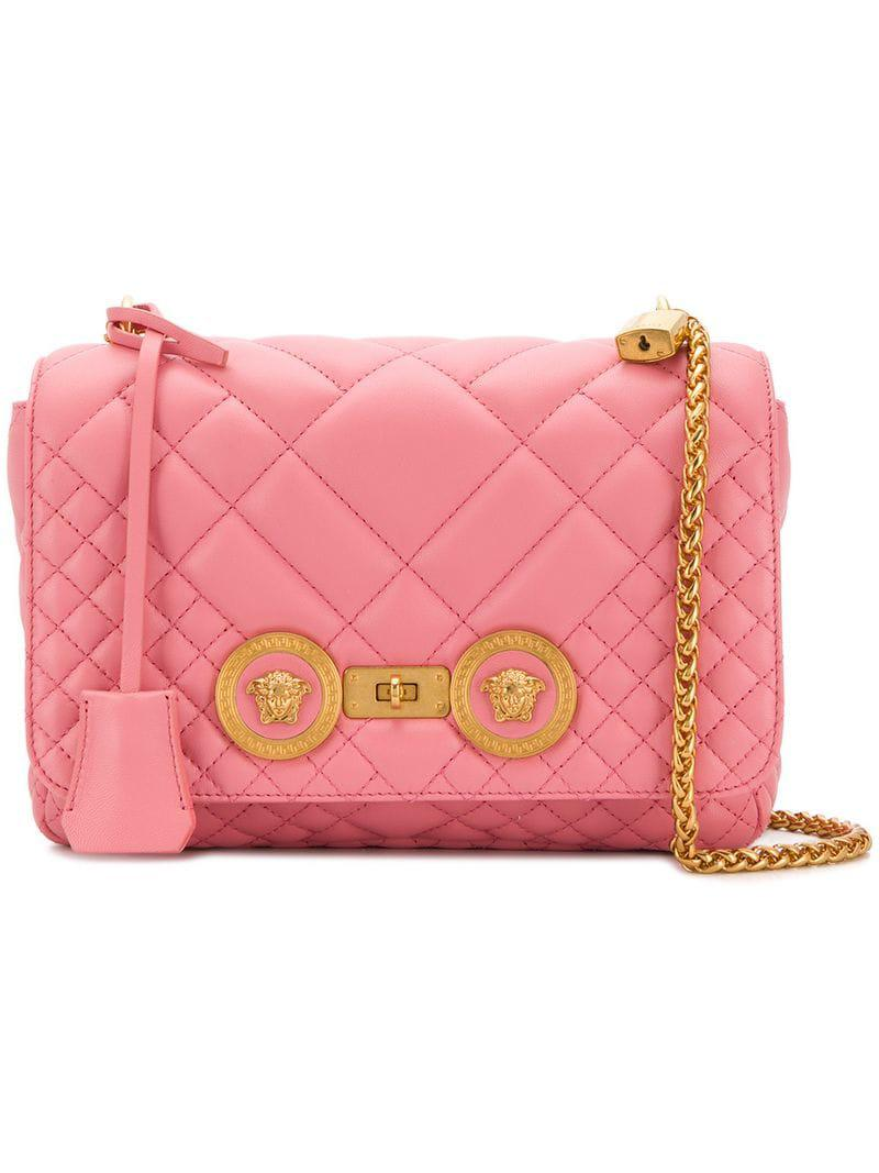 b5bd8f7f69 Lyst - Versace Quilted Icon Bag in Pink