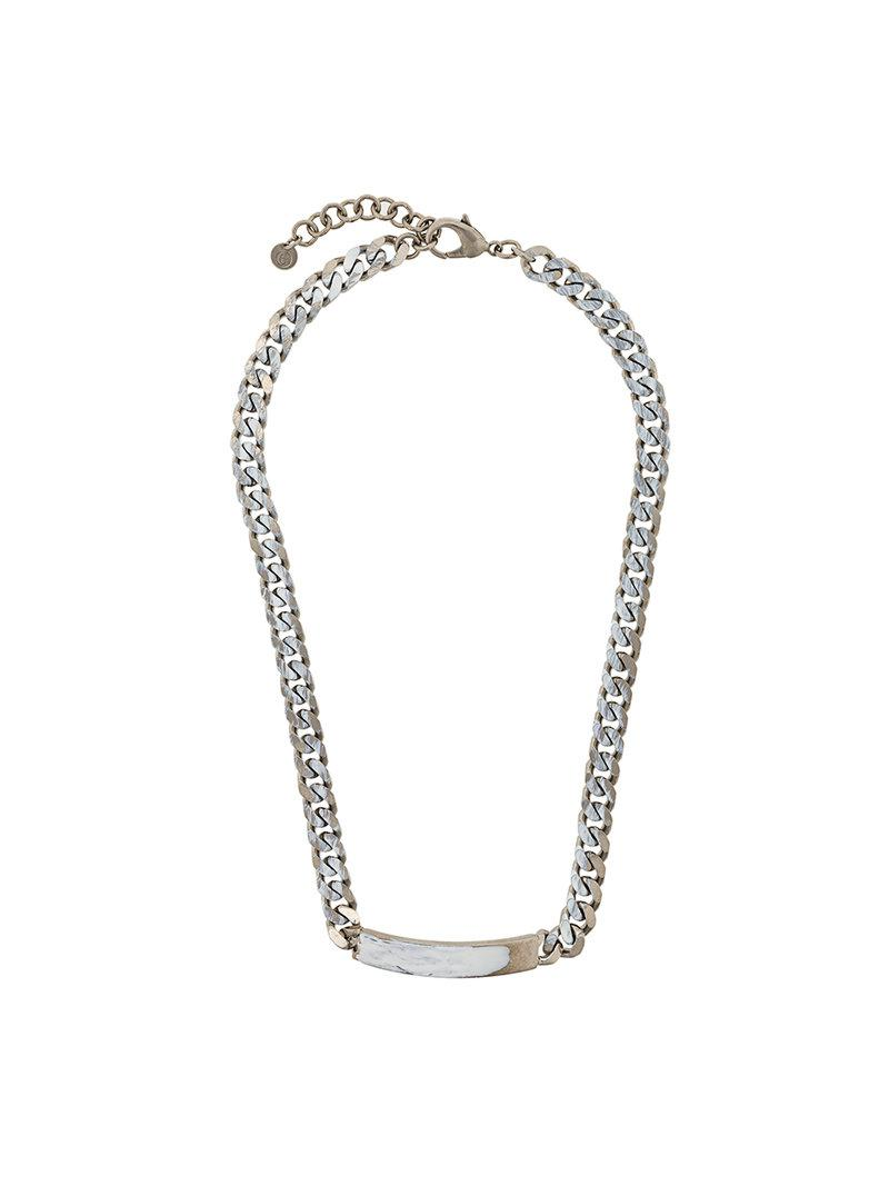 Maison Martin Margiela chain necklace - Metallic cHe0t