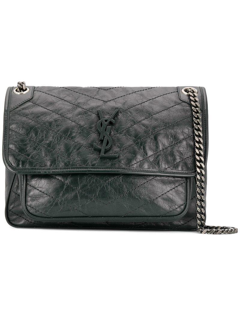 bf0bdb844d06 Lyst - Saint Laurent Niki Shoulder Bag in Black