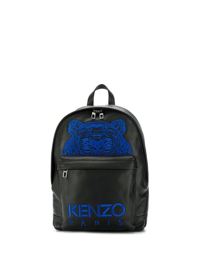 056da6ff KENZO - Black Embroidered Tiger Backpack for Men - Lyst. View fullscreen