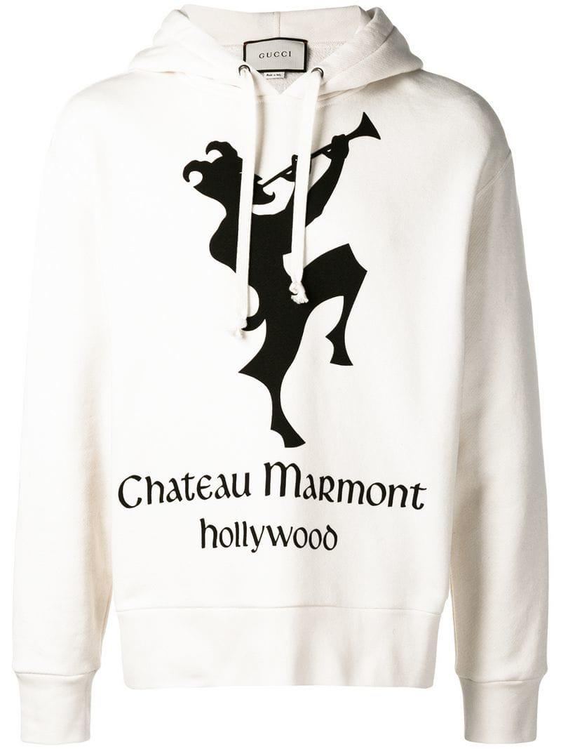367d3bc4d417d6 Gucci Hoodie With Chateau Marmont Print for Men - Save 21% - Lyst